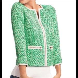 < Cabi Tweed Zip Up Jacket >